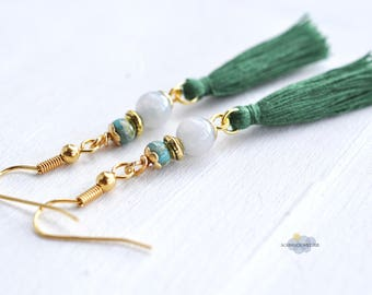 Earrings with Jade