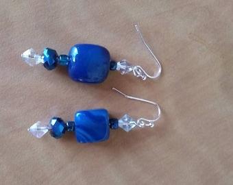 Agate and Bead Earrings