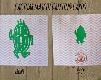 Cactuar Mascot Greeting Cards - Thank You Themed