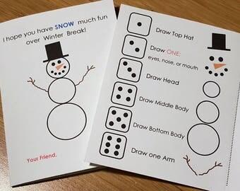 Roll A Snowman Card