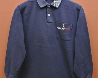 Vintage Munsingwear Grand Slam Penguin Long Sleeve Polo Shirt Casual Wear Top Tee Size M