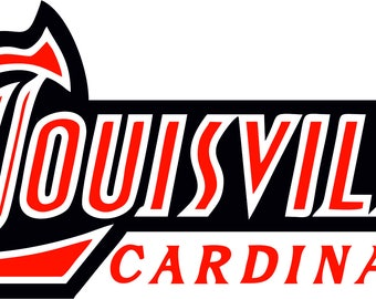Louisville Cardinals SVG  Dxf Logo Silhouette Studio Transfer Iron on Cut File Cameo Cricut Iron on decal Vinyl decal Layered Vector