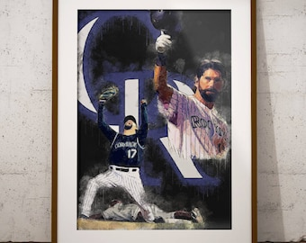 Todd Helton - Colorado Rockies - Baseball - MLB - Art - Poster - Decor - Wall Art - Man Cave