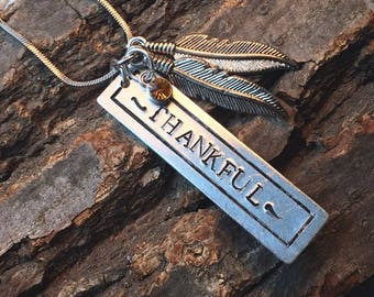 Thankful Charm Necklace