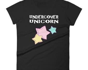 Unicorn shirt - Undercover unicorn - i love unicorns - unicorn tshirt - unicorn party - unicorn t-shirt - girls unicorn shirt little unicorn