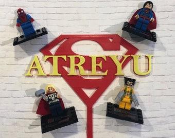 Custom Superman Cake Topper and Figurines
