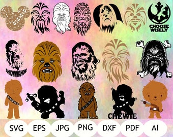 Chewbacca SVG, Chewbacca Clipart, Star Wars Printable, Instant Download