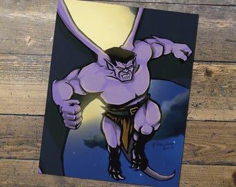Goliath - Gargoyles - Fan Art - Goliath Print - Gift for Him