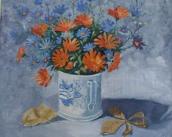 Wildflowers  oil paintings