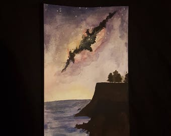 Galaxy nightsky ~ watercolour