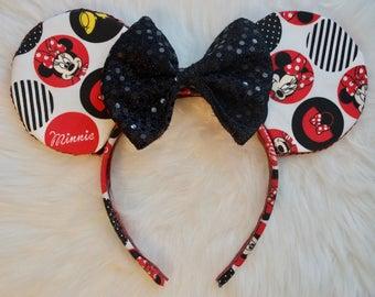 Minnie Mouse Ears, Disney Ears, Mouse Ears