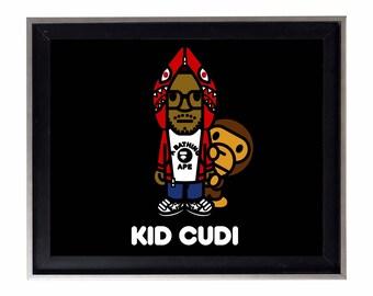 Bape x Kid Cudi Poster or Art Print (a bathing ape)