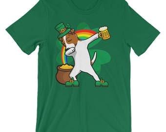 Funny Dabbing Leprechaun Jack Russell Terrier T-Shirt, St Patricks Day Shirt