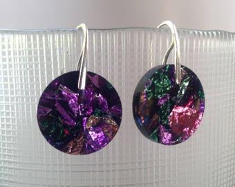 Metallic confetti sterling silver earrings