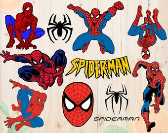 Spiderman Svg, Spiderman Cutfiles Dxf, Eps & Png Cutfiles, Spiderman vectors for Cricut, Silhouette cameo, Spiderman Layered Svg, Clipart