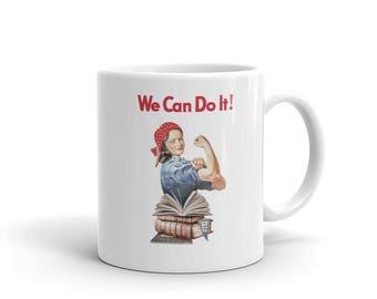 Rory Gilmore 'We Can Do It!' Mug - Gilmore Girls & Rosie the Riveter Inspired