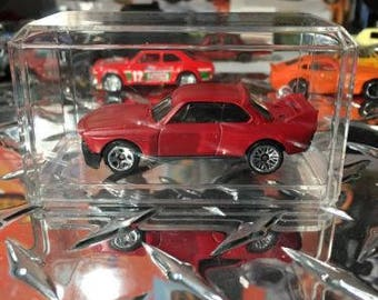 Custom Painted Hot Wheels 73 Bmw 3.0 Csl Race Car Flat Red