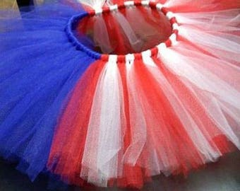 Baby girl Red, White and Blue Tutu