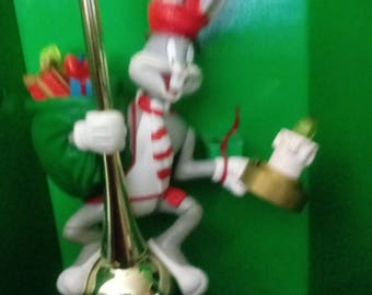 Mr. Christmas Bugs Bunny Lighted Animated Tree Top 1990 - This Looney Tunes Christmas Tree Top in original Box