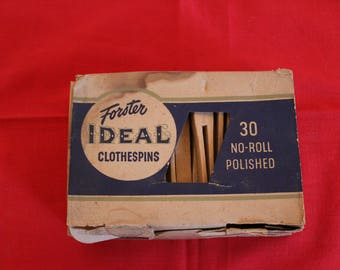 30 Vintage Forster Ideal Clothespins