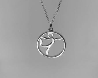 Yoga Jewelry | Dancer Pose | Sterling Silver