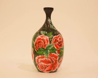 "Pet Urn ""Bouquet de Roses"", wooden pet urn"