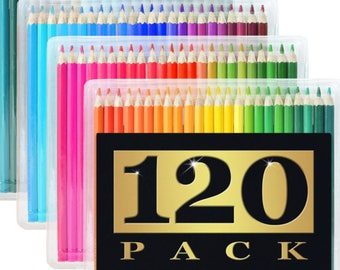 120 colored artist pencils for adults and children