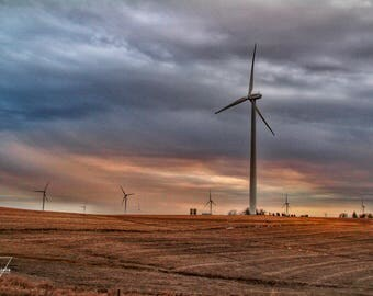 Turbine Sunset - Nebraska - Photography