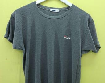 Vintage Fila Minimalist Logo Shirt Sport Wear Top Tee