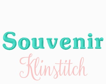 50% Sale!! Souvenir Embroidery Fonts 3 Sizes Fonts BX Fonts Embroidery Designs PES Fonts Alphabets - Instant Download