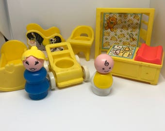 Vintage fisher price nursery bundle
