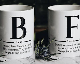 """Cup gift with """"best friends"""" motif"""