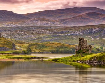 Ardvreck Castle on the shore of Loch Assynt