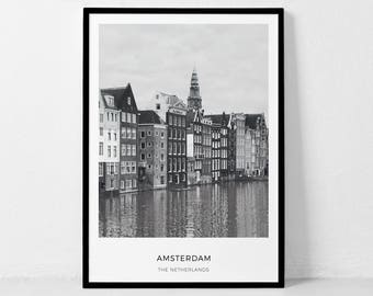 Amsterdam Print, Amsterdam Photo, Netherlands Print, Amsterdam Printable, City Travel, City Poster, Amsterdam Photography, City Coordinates