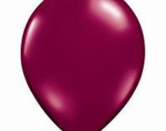 Pearl Burgundy Latex Balloon