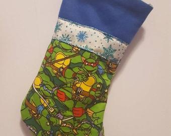 TMNT/ teenage/ mutant/ ninja/ turtle/ nerd/ pizza/ 90's/ raph/ leo/ donnie/ mikey/ living room/ christmas/ stockings