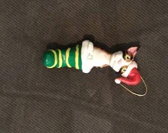Calico kitten ornament