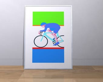 The Cyclist - Dynamic Wall Decor with sporting theme