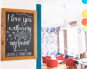 Personalised wedding board