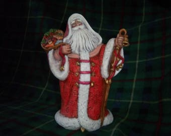 Hand Painted Ceramic Santa #4