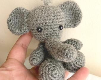 Crochet Elephant - Amigurumi elephant - Stuffed elephant - Elephant toy - Crochet animal - Elephant amigurumi- Crochet toy- Elephant nursery