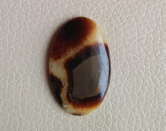 Natural Septarian Ovel Shape Gemstone,  Loose Semi Precious Gemstone Cabochon, Septarian Stone Size 41x26x7 MM Approx, Stone Weight 40 Carat