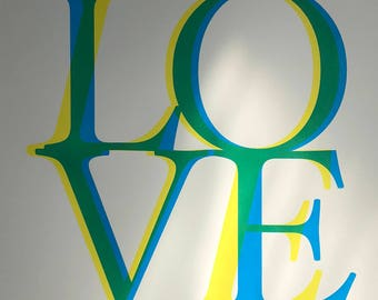Screen Print, Poster, The Beatles 'All you need is love'.