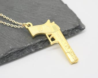 Gun Necklace, Gun Jewellery, Cute Necklace, Cute Jewellery