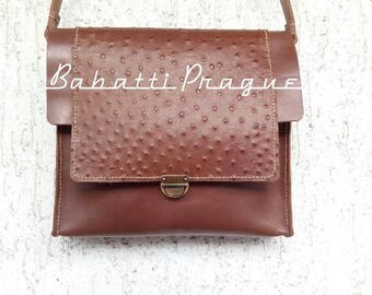 Original Handmade Leather Messenger Bag - Brown Caramel
