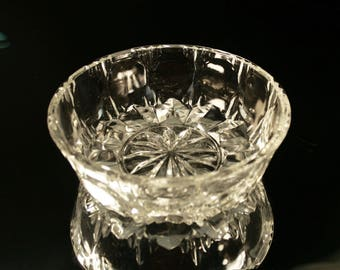 Vintage Cut Crystal Glass Bowl Retro Sugar Bowls Old Bowls Crystal Collectables, Vintage Cut Glassware, Crystal Tableware Vintage Candy Bowl