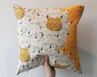 The Yellow Lynx Cushion