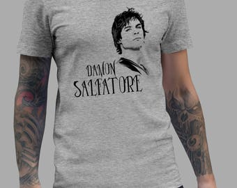 Vampires Diaries Shirt - Damon Salvatore Shirt #R