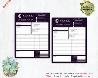 Monat Order Form, Monat Invoice Form, Custom Monat Hair Care Card, Monat Marketing, Fast Free Personalization, Monat Business Cards MN03
