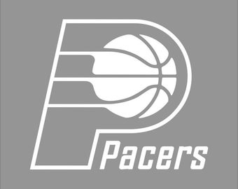 Indian Pacers White Vinyl Decal